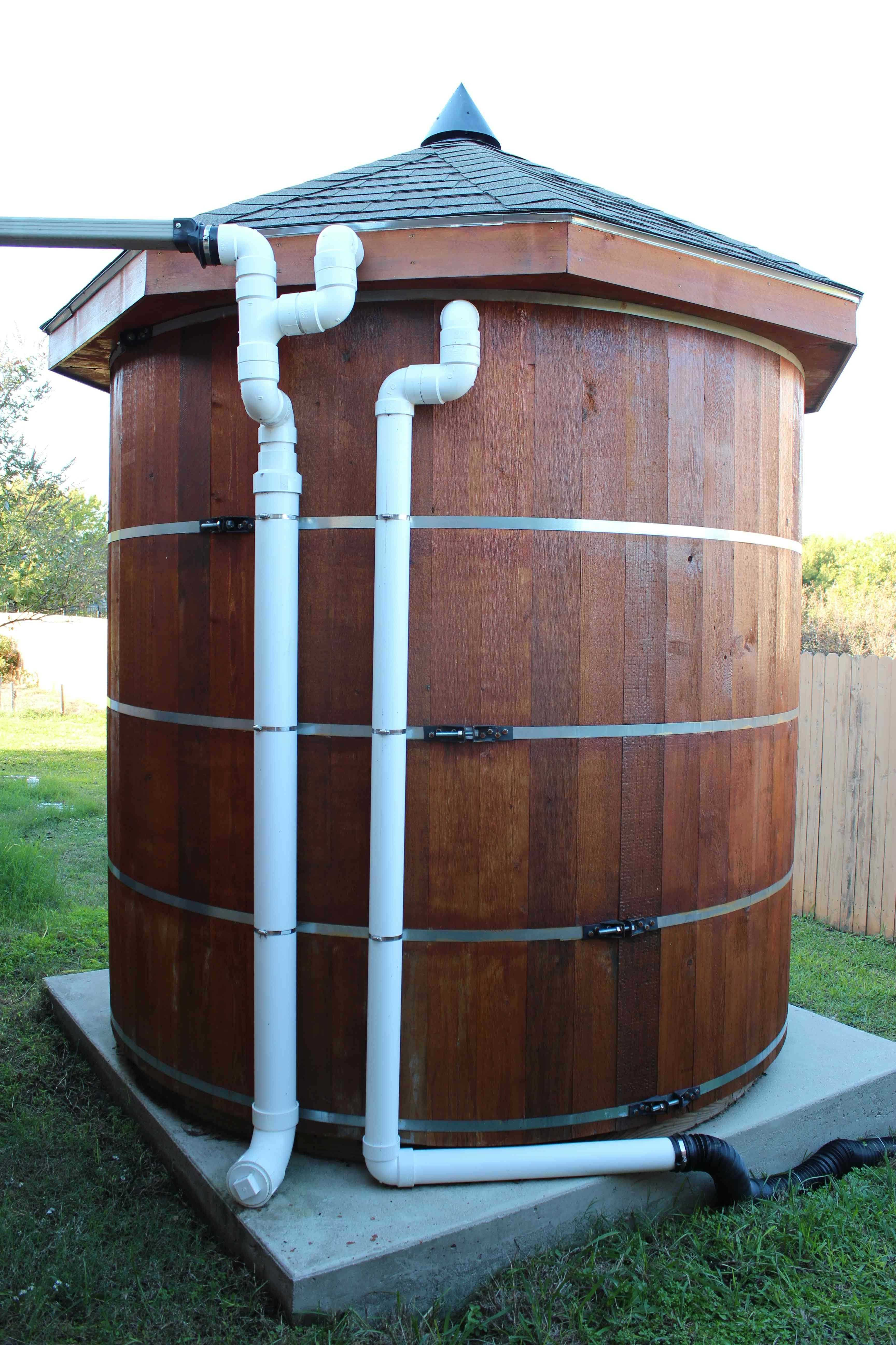 Build Your Own 3 000 Gallon Wooden Cistern